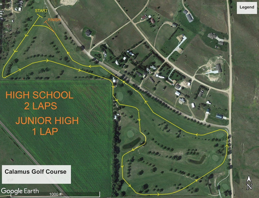 Conference Cross Country Map