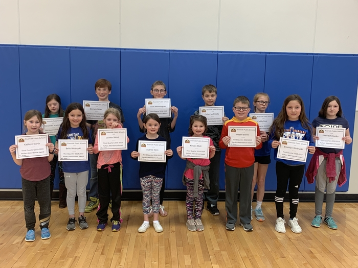 Third quarter perfect attendance