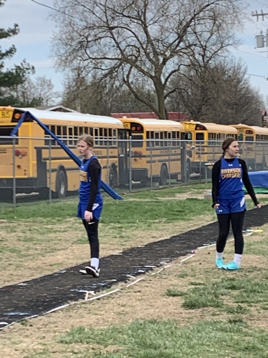 Getting ready to long jump