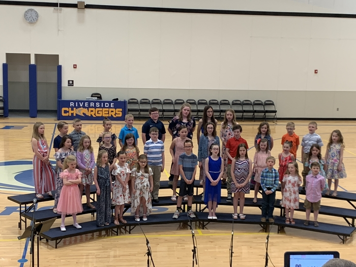 K-5 music students