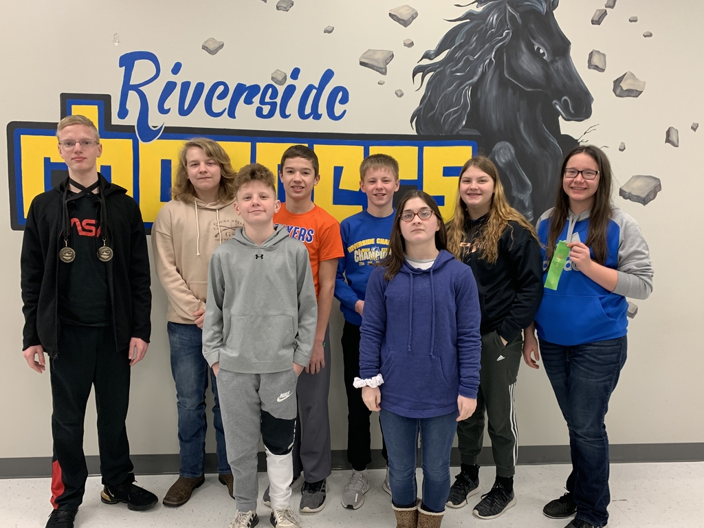 Middle school students who placed in Palmer.