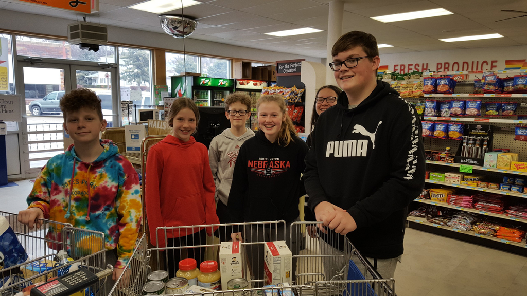 Middle school student council shopping trip