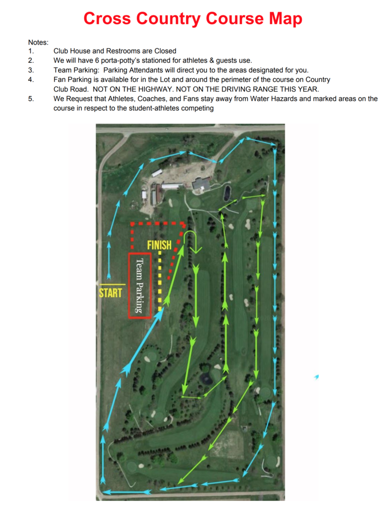 Boone Central Cross Country Course Map